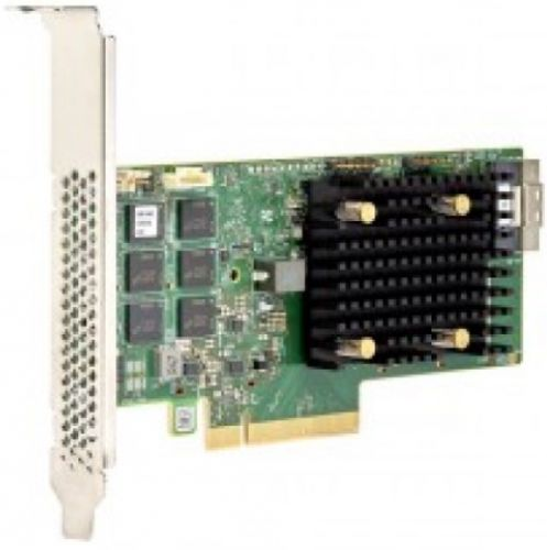 Фото - Контроллер SAS LSI MegaRAID 9560-8I SGL 05-50077-01 PCIe 4.0 x8 LP, SAS/SATA/NVMe, RAID 0,1,5,6,10,50,60, 8port(1 * int SFF8654), 4GB Cache, 3908ROC, sas sata raid контроллер