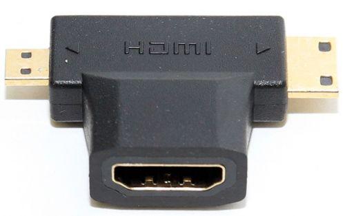 Фото - Переходник 5bites HH1805FM-T Переходник 5bites HDMI F/mini + micro HDMI M переходник