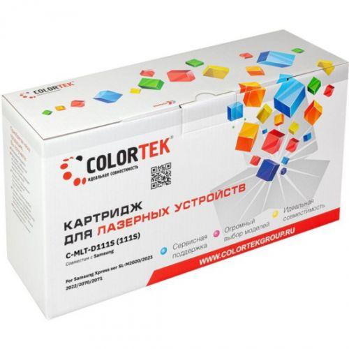 Картридж Colortek CT-MLTD111S для принтеров Samsung Xpress ser SL-M2020, Xpress ser SL-M2021, Xpress ser SL-M2022, Xpress ser SL-M2070, Xpress ser SL. недорого