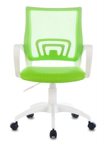 Фото - Кресло Бюрократ CH-W695NLT цвет салатовый TW-03A TW-18 сетка/ткань крестовина пластик белый кресло бюрократ ch w695nlt на колесиках сетка ткань темно серый [ch w695nlt dg tw 12]