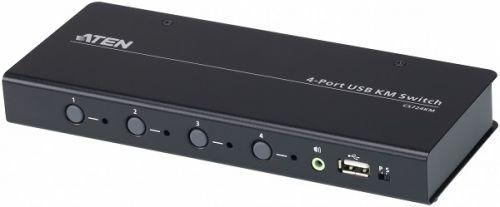 Переключатель KVM Aten CS724KM-AT 4-портовый USB с функцией Boundless Switching, кабели включены