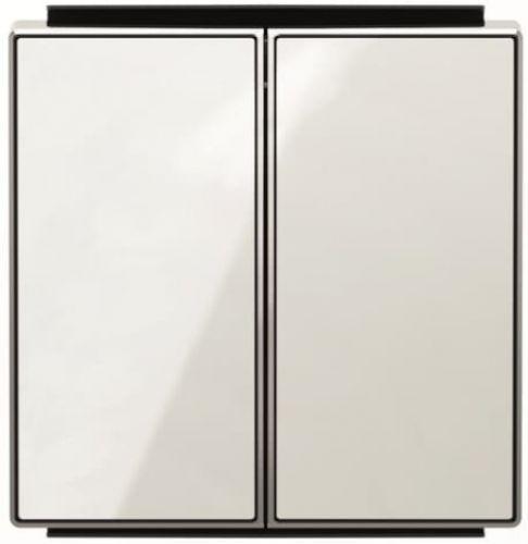 Панель лицевая ABB 2CLA851100A2101 для 2-клавишных выключателей/переключателей/кнопок, стекло белое
