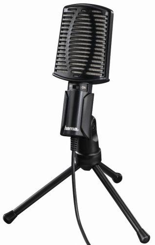 Микрофон HAMA 00139906 проводной, 2м, черный
