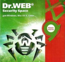 Dr.Web Security Space, КЗ, продление 12 мес., 3 ПК