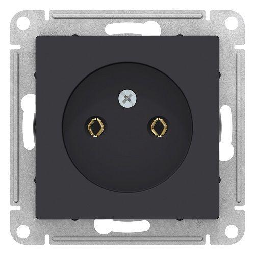 Розетка Schneider Electric ATN001041 AtlasDesign, без заземления, 16А, механизм, карбон