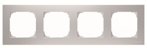 Рамка ABB 2CLA857400A1301 4-постовая, серебристый рамка abb 4 постовая zenit антрацит