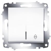 Переключатель ABB 619-010200-210 Cosmo одноклавишный с подсветкой, 10А, 250В, IP20 (сх. 6) (белый)