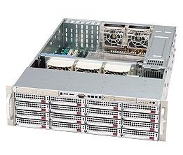 "Supermicro Корпус серверный 3U Supermicro CSE-836TQ-R800B (16x3.5"" HS Bays, 16xSAS/SATA 6G port, DVD-opt., 13.68""x13"", 7xFH, 2x800W, Rail)"