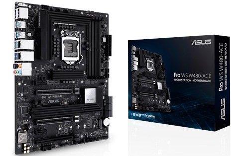 Материнская плата mATX ASUS PRO WS W480-ACE (LGA1200, W480, 4*DDR4(4800), 6*SATA 6G RAID, 2*M.2, 5*PCIE, 7.1CH, 2.5Glan, 8*USB 3.2/3*USB Type-C, HDMI, материнская плата supermicro mbd x12sae o lga1200 w480 4 ddr4 2933mhz 4 sata 6gb s raid 2 m 2 2 5glan glan 5 pcie 7 usb 3 2 usb type c 2