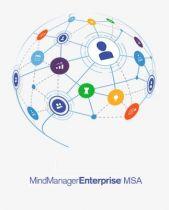 Mindjet MindManager Enterprise MSA (per MindManager Ent. Perpetual Nw and/or Upgrade)  Band 100 +