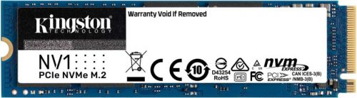 Накопитель SSD M.2 2280 Kingston SNVS/2000G NV1 2TB PCIe Gen 3.0x4 NVME 2100/1700MB/s