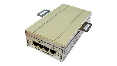 Инжектор TFortis FSE-2G+ 2-портовый РоЕ+(HighPoE) 802.3at для питания двух видеокамер РоЕ+ (30W) или одной PTZ-видеокамеры РоЕ+ (60W)