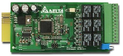 Карта Delta 3915100147-S релейная ввода-вывода Delta F RELAY I/O CARD F FOR UPS