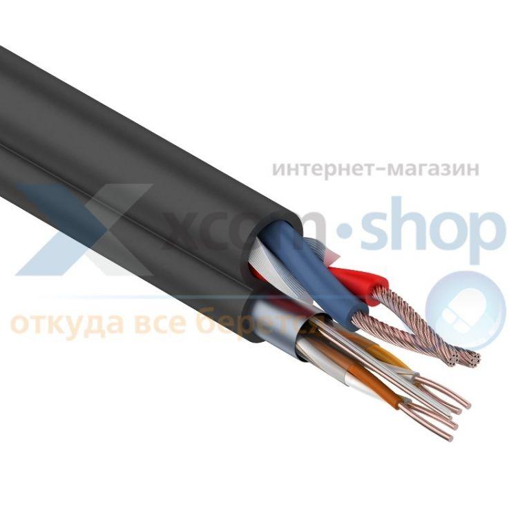 Rexant FTP 2PR 24AWG CAT5e + 2х0.75мм²., 200м., черный, OUTDOOR