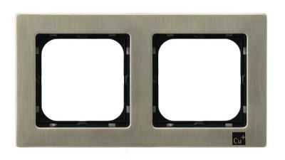 Рамка Ospel R-2RM/44 двойная, серебро