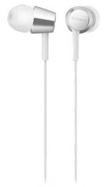 Гарнитура Sony MDR-EX155AP белая, 1.2м гарнитура