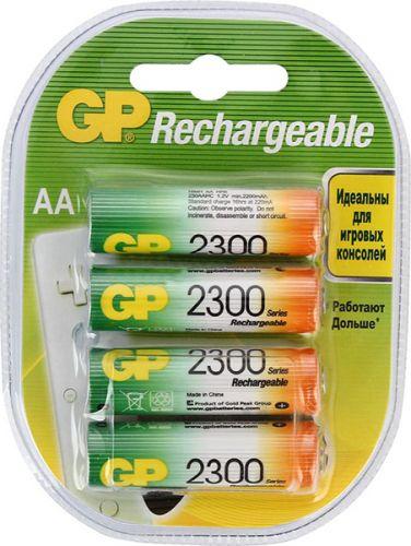 батарейки gp 15g os4 aa 4шт Аккумулятор GP 230AAHC 1.2V, 2300mAh, 4шт, size AA