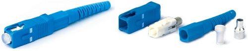 Разъем Hyperline SC-SM-3 леевой SC, SM(для одномодового кабеля), 3 мм, simplex, (синий)