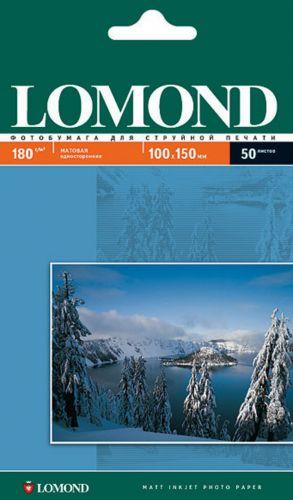 Бумага Lomond 0102063 10x15 Матовая фотобумага, 180г/м2, 50 листов