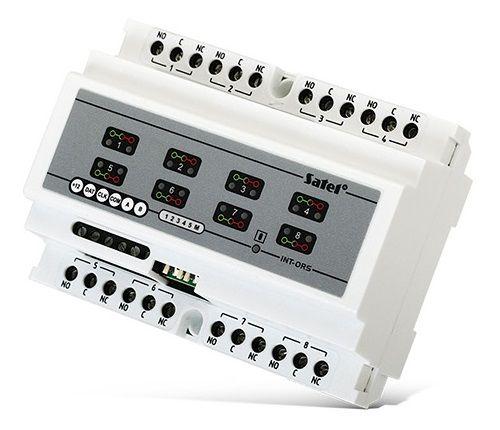 Модуль расширения SATEL INT-ORS для ПКП INTEGRA, CA-64, VERSA, 8 выходов релейных, на DIN рейку (непосредственное управление различными устройствами с