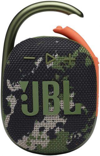 Портативная акустика 1.0 JBL Clip 4 камуфляж 5W BT 15м 500mAh