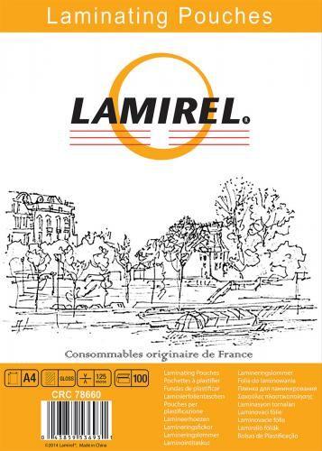 Пленка Fellowes LA-78660 для ламинирования Lamirel А4, 125мкм, 100шт