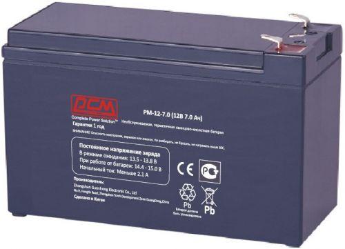 Аккумулятор Powercom PM-12-7.0 12В 7Ач