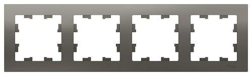 Рамка Schneider Electric ATN000904 AtlasDesign, 4-постовая, универсальная, сталь