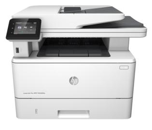 МФУ HP LaserJet Pro M426fdn F6W17A A4, 600dpi, 38ppm, 256Mb, Duplex,2trays 100+250, DADF50, USB2.0+Walk-Up/GigEth, ePrint