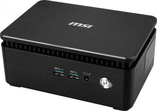 MSI Компьютер неттоп MSI Cubi 3 Silent S-038XRU 9S6-B15921-038 i3 7100U (1.1)/4GB/500GB/HDG/noOS/WiFi/BT/черный/серебристый
