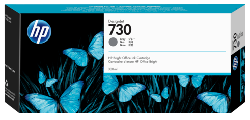 Картридж HP 730 P2V72A для DesignJet T1700, 300 мл, серый
