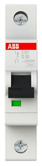 Фото - Автоматический выключатель ABB S201 2CDS251001R0501 1P 50A (D) 6kA автоматический выключатель abb 2cds251103r0104 s201 1p n 10а с 6ка