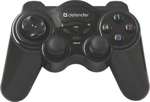 Геймпад беспроводной Defender Game Master 64257 12 кнопок, до 10м, 2 дж, USB