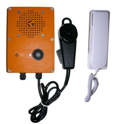"""Комплект GETCALL GC-6004C1 переговорного устройства """"Водитель-Салон"""", пульт водителя в вандалозащищенном исполнении с микрофоном-тангетой и громкогово"""