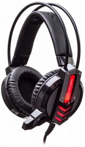 Гарнитура проводная Oklick ARROW HS-L450G черная, с микрофоном, 2.2м, мониторы, оголовье (472654)