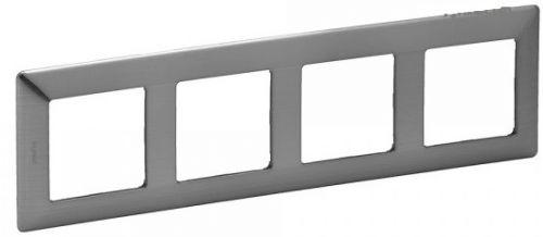 Рамка Legrand 754154 Valena LIFE, 4-ая, сталь