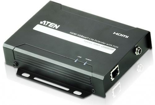 Удлинитель Aten VE802T-AT-G HDMI HDBaseT-Lite+RS232+IR, 60 м, 1xUTP Cat5e, HDMI+RJ45+3-контактн. клемма+MINIJACK, F, без шнуров, БП 220> 5V