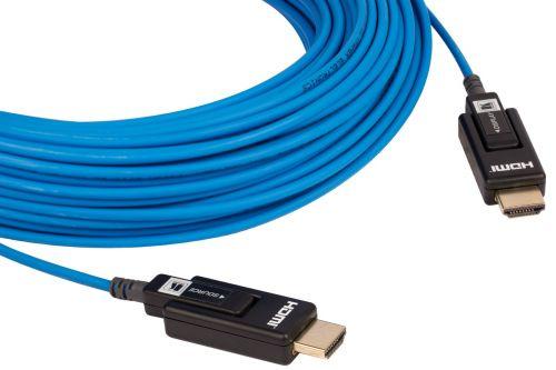 Кабель интерфейсный HDMI-HDMI Kramer CLS-AOCH/XL-328 97-0403328 малодымный оптоволоконный (Вилка - Вилка), поддержка 4К 60 Гц (4:2:0), 100м