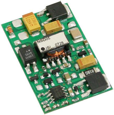 Преобразователь DC-DC модульный Mean Well NSD05-12S5 5 Вт, вход 9,2...36В DC, выход 5В/1А, изоляция 1500В DC, открытая плата 40,6х25,4х8,1мм, -25…+70°