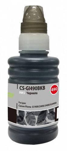 Чернила для заправки Cactus CS-GI490BKB черный 100мл для Canon Pixma G1400/G2400/G3400