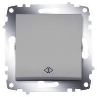 Переключатель ABB 619-011000-214 Cosmo перекрестный одноклавишный, 10А, 250В, IP20 (сх.7) (алюминий) выключатель abb 619 011000 200 cosmo одноклавишный 10а 250в ip20 алюминий