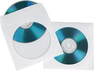 Конверт для CD/DVD HAMA H-62672 00062672 белый (упак. 100шт)