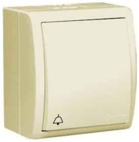 Выключатель Simon 1594150-031 Simon 15 Aqua Бежевый 1-клавишный кнопочный с символом