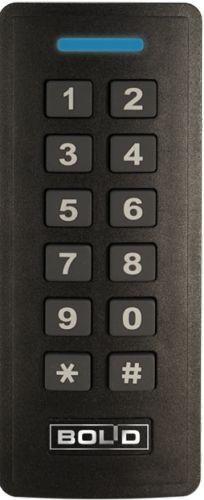 Считыватель Болид ProxyKey-4M бесконтактный, для Mifare с кодонаборной клавиатурой; Wiegand-26, Wiegand-44; расстояние считывания 10 см; U-пит.7...25