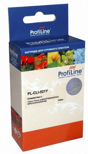 Фото - Картридж струйный ProfiLine PL-CLI-521Y-Y Картридж PL-CLI-521Y для принтеров Canon Pixma IP3600/IP4600/MP540/MP550/MP620/MP630/MP980 с чипом водн Prof картридж profiline pl