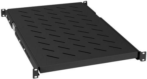 Полка выдвижная Cabeus JE05-1200-BK для шкафов и стоек глубиной 1200 мм, черный