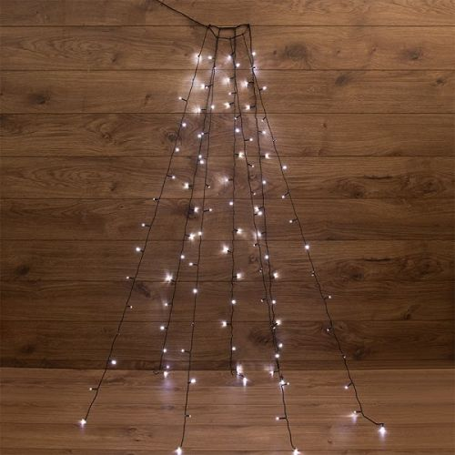 Фото - Гирлянда NEON-NIGHT 235-085 с кольцом, 7 нитей по 1,8 метра, цвет диодов белый, не соединяется комплект neon night premium для новогоднего украшения дома цвет гирлянд белый 500 085