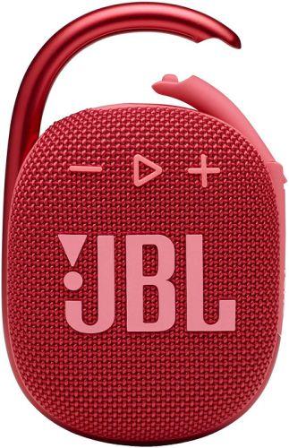 Портативная акустика 1.0 JBL Clip 4 красная 5W BT 15м 500mAh