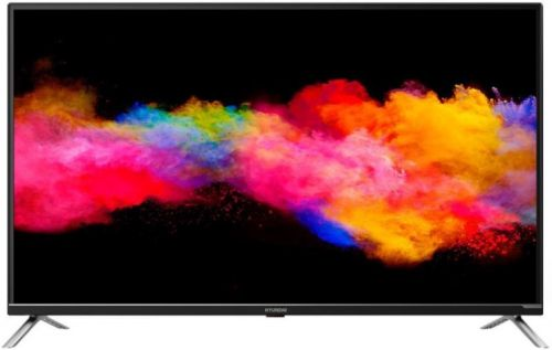 Телевизор LED Hyundai H-LED50EU7008 черный/UltraHD/60Hz/DVB-T2/DVB-C/DVB-S2/USB/WiFi/AndroidTV/SmartTV(RUS) newest hd t2 tv tuner dvb t2 c digital tv receiver support wifi dvb t2 dvb c set top box h 264 receptor