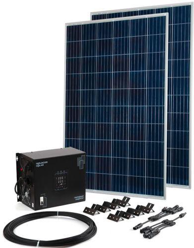 Комплект Бастион Teplocom Solar-1500+Солнечная панель 250Вт х2 250Вт х2 кабель 10 м MC4 коннекторы